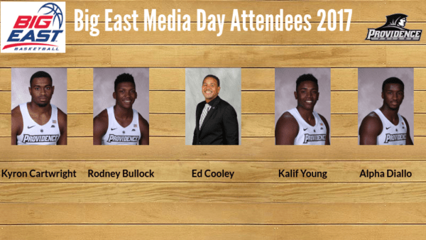 Providence Sending Four Players to 2017 Big East Media Day on October 18th